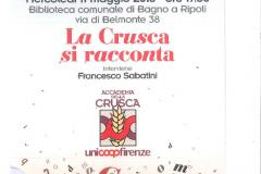 La Crusca si racconta in Biblioteca mercoledì 11 maggio