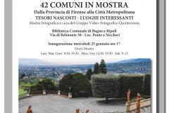42 Comuni in mostra. Dalla Provincia di Firenze alla Città Metropolitana: dal 25 gennaio in biblioteca