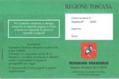 Consegna vecchi e ritiro nuovi tesserini venatori stagione 2017/2018