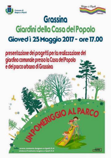 """Al parco con il sindaco per presentare i progetti che renderanno Grassina ancora più """"green"""" e vivibile"""