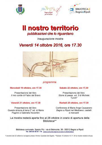 Il nostro territorio: pubblicazioni che lo riguardano. Una mostra in biblioteca da venerdì 14 ottobre