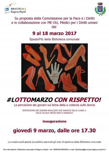 #Lottomarzo con rispetto! I disegni dei ragazzi delle medie in mostra in Biblioteca Comunale dal 9 al 18 marzo