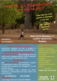 Festa di Primavera: l'Associazione Madirò e La Tommasina per la cooperazione sanitaria in Burkina Faso