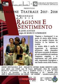 Stagione Teatrale Crc Antella: Ragione e sentimento, di Jane Austen