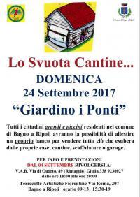 Lo Svuota Cantine... il 24 settembre a Bagno a Ripoli: prenotazioni dal 4 settembre