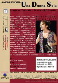 """Teatro Crc Antella, l'8 marzo va in scena """"Una Donna Sola"""" di Franca Rame"""